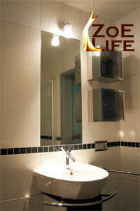 spiegelheizung der spiegel der nicht mehr beschl gt badspiegel zoe life infrarotheizung. Black Bedroom Furniture Sets. Home Design Ideas